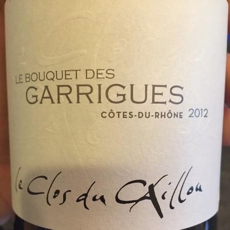 Le Clos du Caillou / Domaine du Caillou Bouquet des Garrigues Côtes du Rhône Red Rhone Blend 2015 (750ml 12bottle)