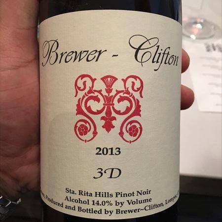 Brewer-Clifton 3-D Sta. Rita Hills Pinot Noir 2013