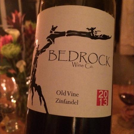 Bedrock Wine Co. Old Vine California Zinfandel 2015