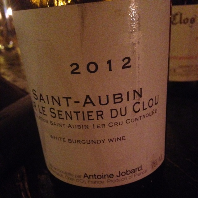 Sur Le Sentier du Clou Saint-Aubin Chardonnay 2013