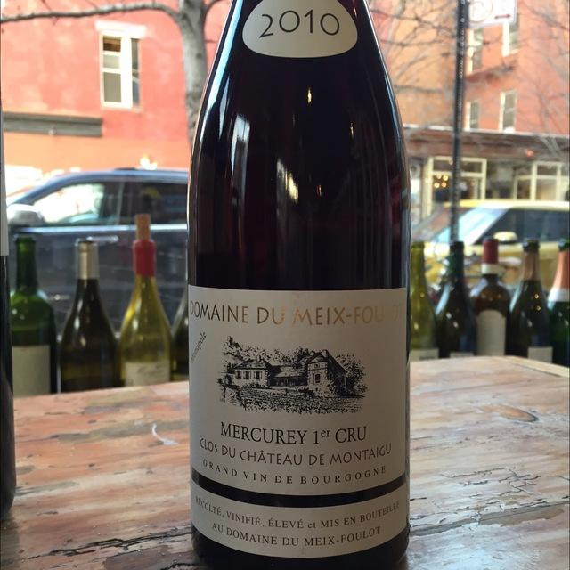 Clos du Château de Montaigu Mercurey 1er Cru Pinot Noir 2010 (1500ml)