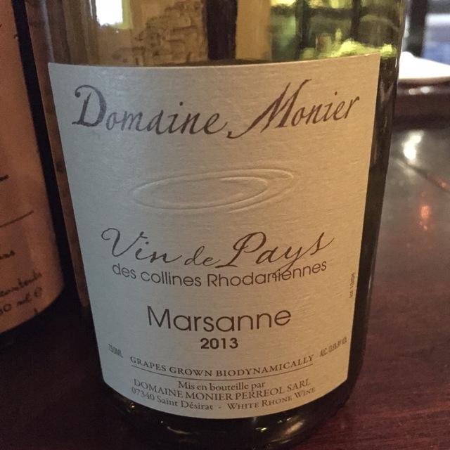 Vin de Pays des Collines Rhodaniennes Marsanne 2013