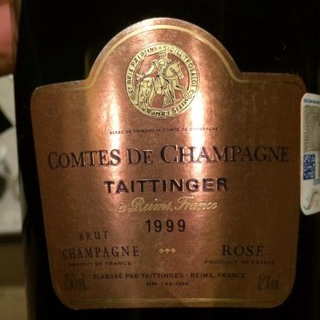 Taittinger Comtes de Champagne Brut Rosé Champagne  1999