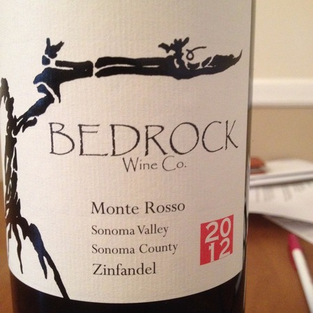 Bedrock Wine Co. Monte Rosso Vineyard Zinfandel 2015
