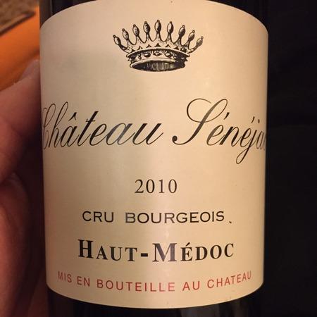 Château Sénéjac Haut-Médoc Red Bordeaux Blend 2014