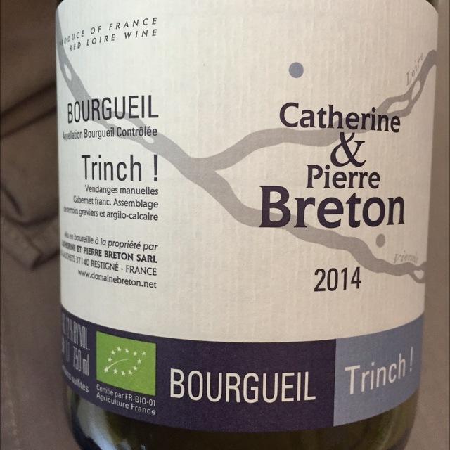 Trinch Bourgueil Cabernet Franc 2014