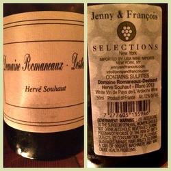 Vin de Pays de l'Ardèche Blanc Viognier Roussanne