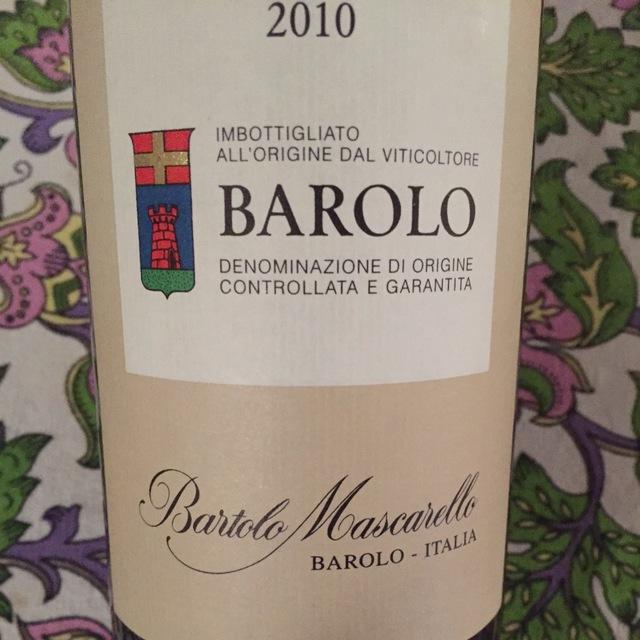 Barolo Nebbiolo 2010