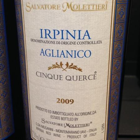 Salvatore Molettieri Cinque Querce Irpinia Aglianico 2012