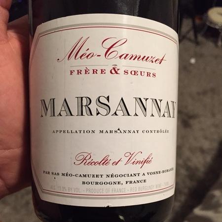 Domaine Méo-Camuzet Marsannay Pinot Noir 2013