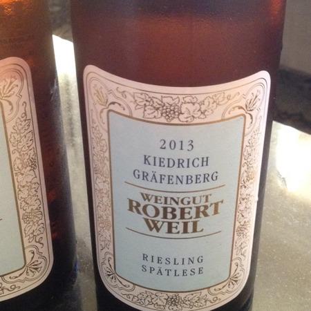 Weingut Robert Weil Kiedrich Gräfenberg Spätlese Riesling 2013