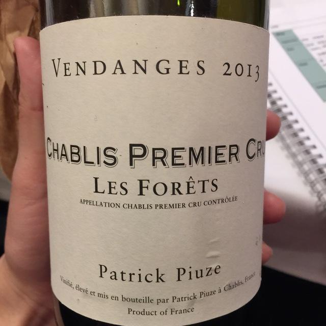 Les Forêts Chablis 1er Cru Chardonnay 2014