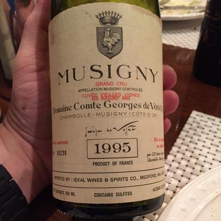 Domaine Comte Georges de Vogüé Cuvée Vieilles Vignes Musigny Grand Cru Pinot Noir 1995
