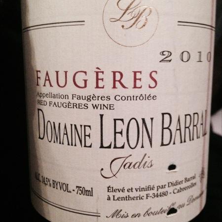 Domaine Léon Barral Jadis Faugères Carignane Blend 2013