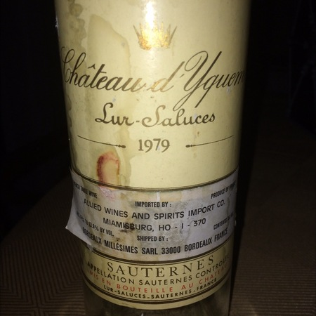 Château d'Yquem Sauternes Sémillon-Sauvignon Blanc Blend 1979 (1500ml)