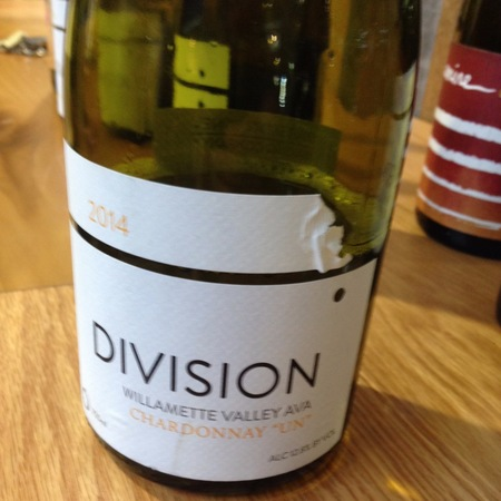 "Division Winemaking Company ""Un"" Willamette Valley Chardonnay 2015"
