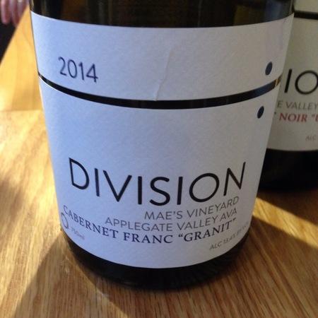 "Division Winemaking Company ""Granit"" Mae's Vineyard Cabernet Franc 2015"
