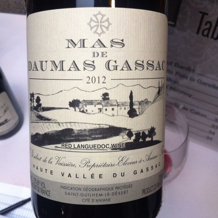 Daumas Gassac Vin de Pays de l'Hérault Red Blend 2012