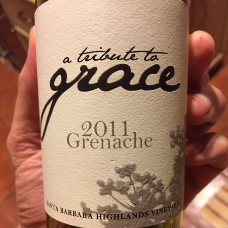 A Tribute to Grace Wines Santa Barbara Highlands Grenache 2014