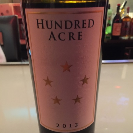 Hundred Acre Vineyard Kayli Morgan Vineyard Cabernet Sauvignon 2012