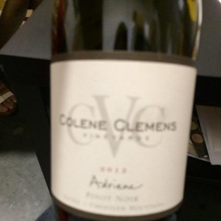 Colene Clemens Vineyards Adriane Chehalem Mountains Pinot Noir  2011