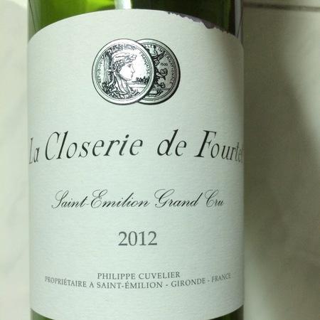 La Closerie de Fourtet Saint-Émilion Merlot Cabernet Sauvignon 2012