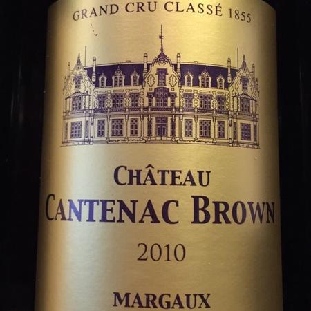 Château Cantenac Brown Margaux Red Bordeaux Blend 2010