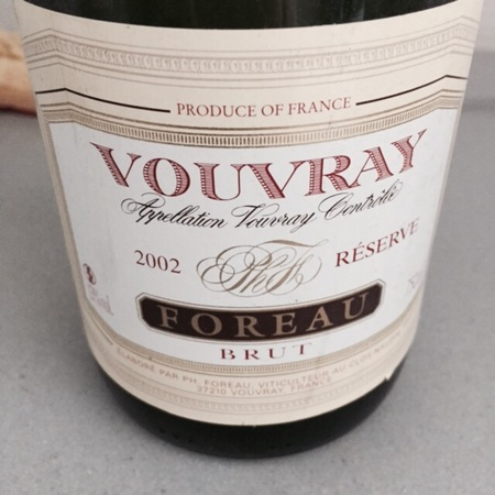 Foreau (Domaine du Clos Naudin ) Réserve Brut Vouvray Chenin Blanc 2002