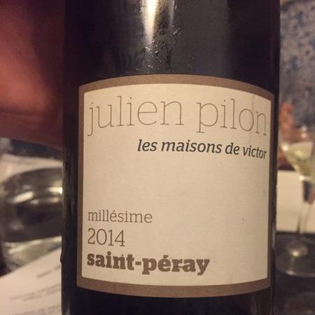 Julien Pilon Les maisons de victor St. Péray Marsanne 2014