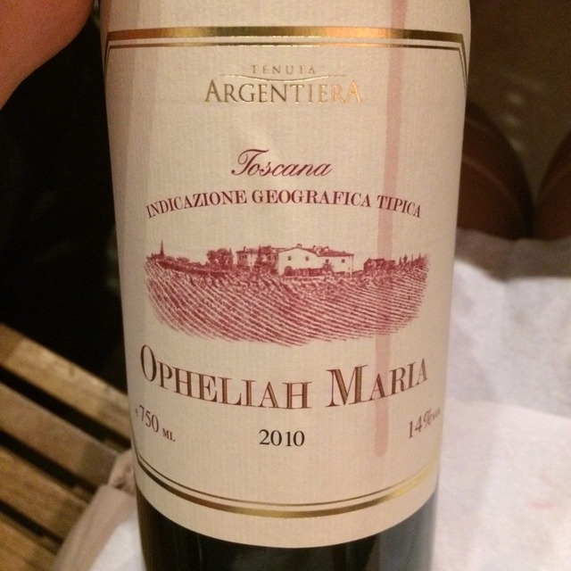 Opheliah Maria Toscana Red Blend 2012