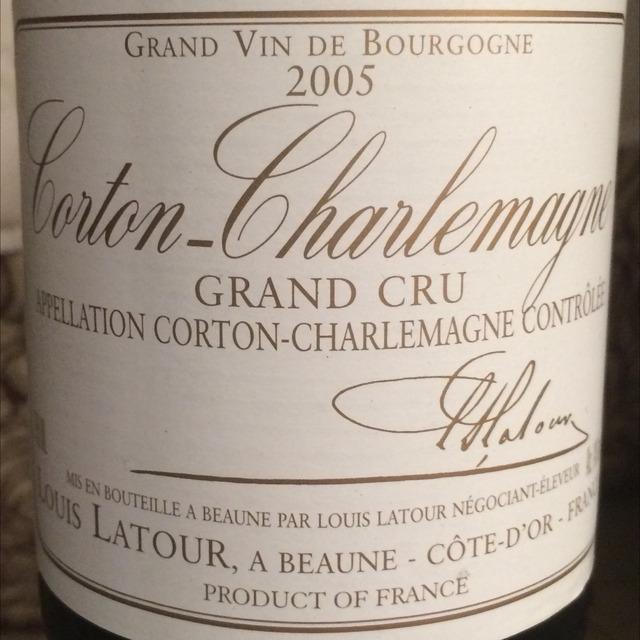 Corton-Charlemagne Grand Cru Chardonnay 2005