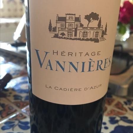 Domaine Vannières Heritage Vannières La Cadiere D'Azur Mourvedre Blend 2016