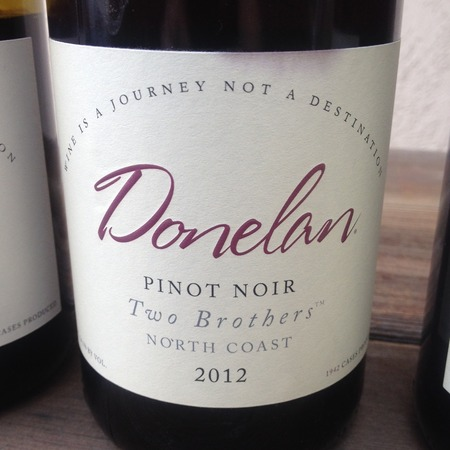 Donelan Two Brothers North Coast Pinot Noir 2012