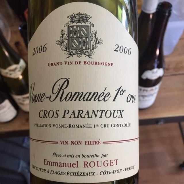 Cros Parantoux Vosne-Romanée 1er Cru Pinot Noir 2012