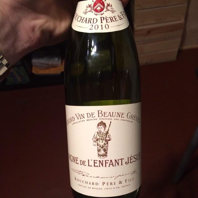 Vigne de l'Enfant Jésus Grèves Beaune 1er Cru Pinot Noir 2010