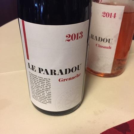 Le Paradou Vin de Pays d'Oc Grenache 2014