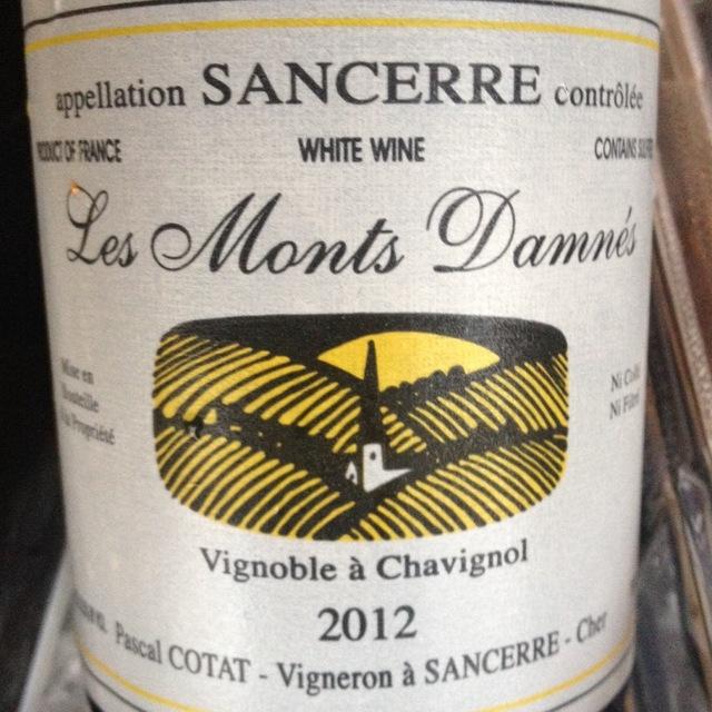 Les Monts Damnés Sancerre Sauvignon Blanc 2012